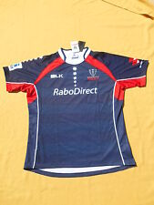 MELBOURNE REBELS Jersey Maillot Home BLK 2014 BNWT Neuf Australia Rugby 3XL
