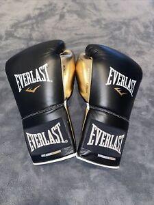 Everlast Powerlock Sparring Gloves - Lace Up - Black Gold (16z)