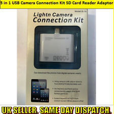 5 in 1 USB Camera Connection Kit SD Card Reader Adaptor for Apple iPad/iPhone