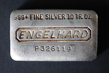 10 oz Engelhard Silver Bar (Poured) .999 Fine