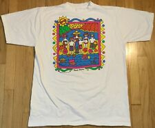 vintage 1990 Beach Bums t shirt XL white colorful 90s surfing funky sun sand