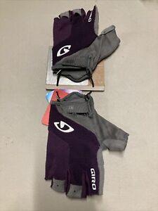 ! Giro Stradamassa Supergel Womens Adult Large Cycling Bike Gloves Purple