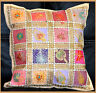 Hand Crafted Antique Tribal Patch Work beige Pillow Cover Cushion Cover India!!