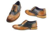 Frank James Redford Brogues Lace Up Formal Casual Leather Shoes Tan/Brown Size10