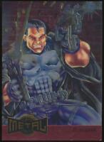 1995 Marvel Metal Blaster Trading Card #9 Punisher