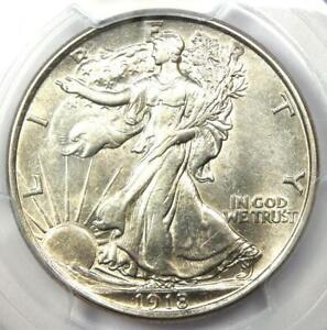 1918-P Walking Liberty Half Dollar 50C - PCGS AU Details - Rare Date 1918 Coin!