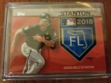 2018 Topps - GIANCARLO STANTON MLB Spring Training Logo Patch #20/25 NY Yankees