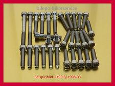 Kawasaki Ninja ZX9R/ ZX 9 R / ZX9 R  V2A Edelstahl Schraubensatz Schrauben Motor
