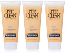3 Pack Neutrogena Deep Clean Cream Cleanser, Oil Free 7 oz (200 g) Each