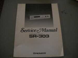 Pioneer SR-303 Receiver Service Manual  19 pages