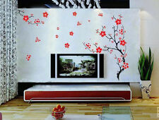 Removable Plum Blossom Flower Wall Stickers Vinyl Decal Mural Living Room Decor