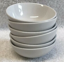 6 Gibson Designs WHITE ELEMENTS individual Dipping Bowls SET 3 in diameter EUC