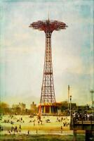 Coney Island Vintage by Chris Lord Photo Art Print Poster 24x36 inch