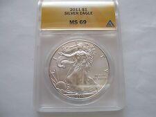 2011 silver eagle , ANACS , MS 69