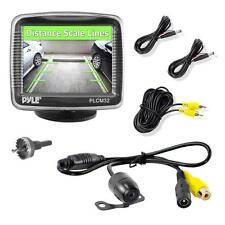 "New PYLE PLCM32 3.5"" TFT LCD Monitor w/Universal Mount Rear View Backup Camera"