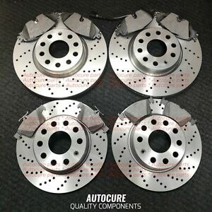 FOR AUDI S5 V8 DRILLED FRONT & REAR BRAKE DISCS AND PADS BRAND NEW