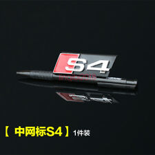 "Chrome "" S 4 "" Badge Front Bumper Grill Emblem Black for Audi A4 S4 RS4"