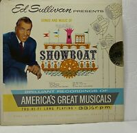 """Ed Sullivan Presents Songs And Music Of """"Showboat"""": 1960 LP (Musical)"""