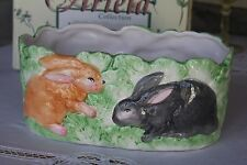 Ceramic Easter Bunny Rabbit Basket Planter Ariela Collection
