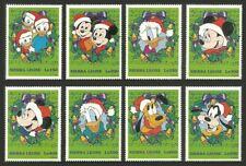 SIERRA LEONE 1997 DISNEY CHRISTMAS MUSIC NOTATION DOGS PLUTO GOOFY MICKEY MNH