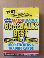 1987 FLEER BASEBALL'S BEST: SLUGGERS vs PITCHERS 44 Cards