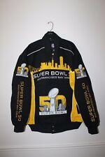 New NFL SUPER BOWL 50 SF BAY AREA NASCAR style twill cotton jacket men's XXL