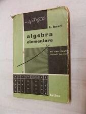 ALGEBRA ELEMENTARE F Boari Lattes 1962 Ad uso degli istitutit tecnici scuola di