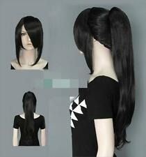 SUPER~~ New Fashion Long Black Hair Wigs With Ponytail /  wigs