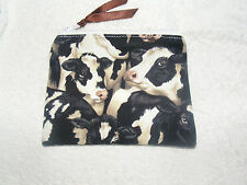'Cow' Print Fabric Handmade Coin Purse
