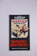 Bonanza Brothers Genesis Instructions Manual Sega