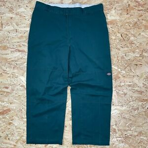 GREEN W40 L29 DICKIES STRAIGHT LEG RELAXED FIT SKATE PANT CHINO TROUSERS