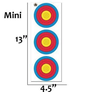 50pk Mini 3 Spot Vertical Target Face