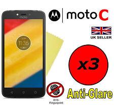 3x Protector de Pantalla Antirreflejo HQ Mate cubierta Protector para Motorola Moto C