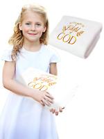 Baptism Gift Blanket Towel for Boys and Girls Baptismal Christening Souvenir LDS