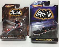 Hot Wheels Batman 1966 TV Series Batmobile and Batcopter 1:50 Scale