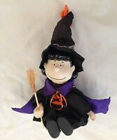 """Peanuts 9"""" LUCY Figurine Dressed as Witch Music Box Plays Peanuts Theme"""