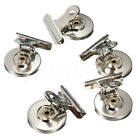 2/5X Metal Magnetic Magnet Clip Non Slip Clamp Fridge Wall Memo Note Holde 2Size