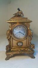 Quality Ornate Gilt Bronze Mantel Clock