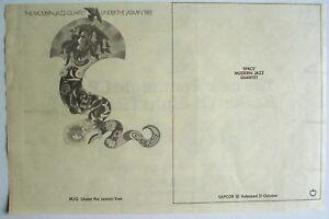 MODERN JAZZ QUARTET 1968 original Advert UNDER THE JASMIN TREE apple beatles