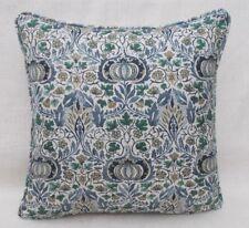 "William Morris Fabric Cushion Cover 'LITTLE CHINTZ' INDIGO/CARMINE -18""- Linen"