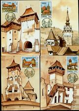 2002 Transylvania German Fortress,Fortified Churches,Romania,M.5649=6 Maxi cards