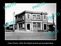 LARGE OLD HISTORICAL PHOTO OF COLAC VICTORIA, THE ES&A BANK BUILDING 1930