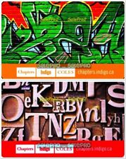 2x CHAPTERS INDIGO COLES LETTER BOX GRAFFITTI RARE COLLECTIBLE GIFT CARD LOT