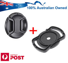 Front Snap-on Lens Cap Buckle Holder for Canon Sony Nikon 40.5 49 62 67 77 mm OZ