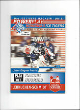 DEL PLAY OFF: NÜRNBERG ICE TIGERS - KASSEL HUSKIES, 13.03.2001, SAISON 00/01