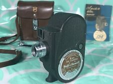 Bell & Howell 8MM Film Movie Camera Model 134 leather case & instruction booklet