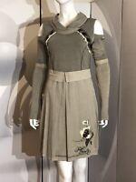 New Angel Never Die Khaki Green Grey Coton Chic Stylish Dress, Size M