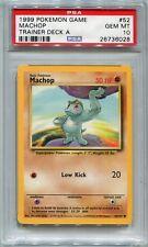 Pokemon Card Brock's Trainer Deck A Machop Base Set 52/102, PSA 10 Gem Mint