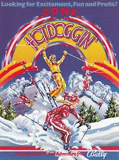 BALLY Hot Doggin' pinball flyer brochure pamphlet BRAND NEW. Year 1980.