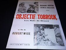 OBJECTIF TOBROUK   richard burton  affiche cinema 1953